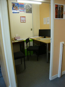 Image of an interview room at the new forest citizens advice in ringwood