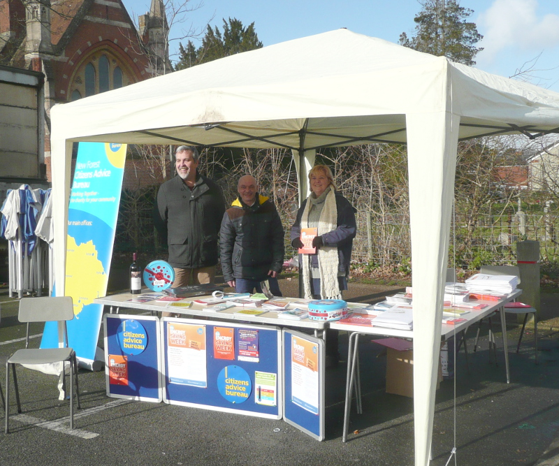 Big Energy Savings Week Stall in the New Forest