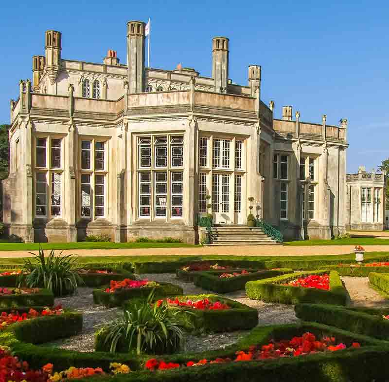 Highcliffe Castle and gardens